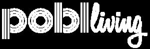 Pobl Living Logo - White