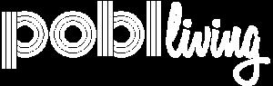 Pobl Living White Logo
