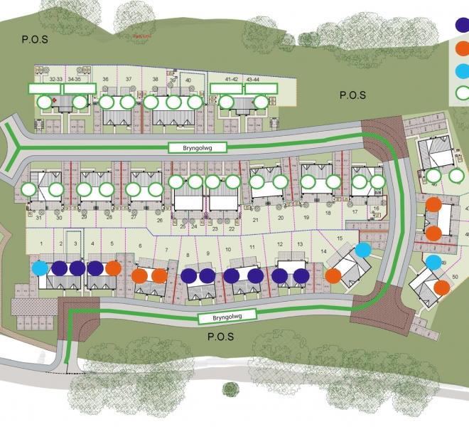 Bryngolwg Site plan - keyed_SML